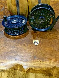 Teton Number 7 3.5 Inch Trout & Saltwater Fly Reel with spare Spool & Case