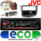 Toyota Yaris 1999-2003 JVC BLUETOOTH CD MP3 USB Aux In Car Stereo & Fitting Kit