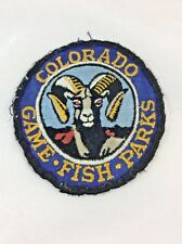 COLORADO GAME FISH PARK (POLICE) SHOULDER PATCH CO Embroidered