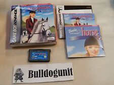 Barbie Horse Adventures Blue Ribbon Race Complete Game Boy Advance Gba Box