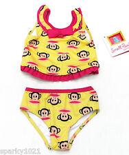 Paul Frank Baby Girls' Tankini Swimwear, Yellow Squid, 12 Months NEW