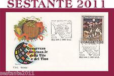 ITALIA FDC ROMA CONGRESSO DELLA VITE E VINO ANNULLO SPECIALE BARDOLINO 1974 A213
