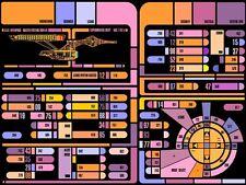 Cartel De A4 – Star Trek la nueva generación de panel de control (imagen Voyager Art)