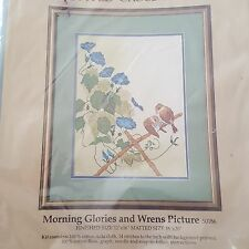 Vintage Something Special Counted Cross Stitch Kit Morning Glories and Wrens