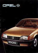Opel Prospekt 1982 12/82 brochure Senator Monza Rekord Manta Ascona Kadett Corsa