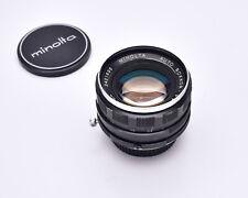 Minolta Auto Rokkor-PF 55mm f/1.8 Prime Lens with Caps (#6091)