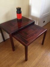 Paar: Rosewood Nesting Tables HENNING KJAERNULF VEJLE Stahl Dänemark MCM