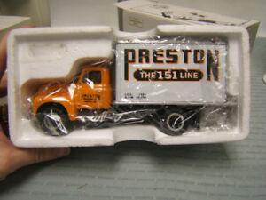 """First Gear """"Preston Trucking"""" 1957 International R-190 Dry Goods Van 1/34 MIB"""