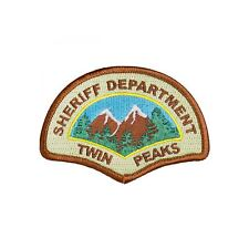 Twin Peaks Sheriff Department Iron On Police Patch Cosplay/Fancy Dress Badge Tru