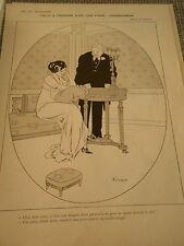 Coeur à prendre avec une pince...Monseigneur dessin Fabiano Print Art Déco 1909