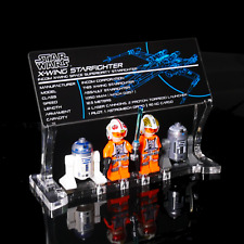 Custom Display Plaque set for LEGO 75218 9493 T-65 X-wing Starfighter