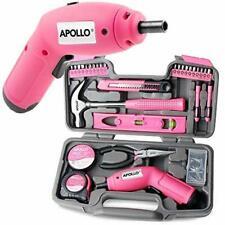 Pink 70 Piece Tool Box Ladies Cordless Electric Screwdriver Set Home DIY Kit NEW