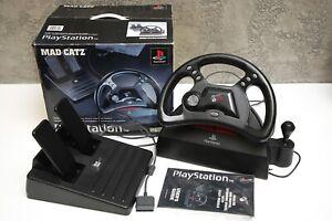 Volante Mad Catz con pedaliera  cambio ps1 Playstation