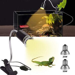 Heizlicht+Lampenhalter Terrarium Aquarium Wärmelampe Reptilien Strahler UVA UVB