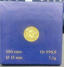 Pièce 100 Euros Semeuse Monnaie de Paris Année 2009 Or 999/1000
