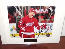 Justin Abdelkader  #8 Detroit Red Wings Autographed 8 X 10 Photo  11x14 Matting