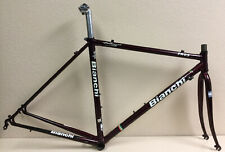 BIANCHI EROS FRAME AND FORK 49 CM EXCLUSIVE CHROMO TUBING SELCOF SEAT POST