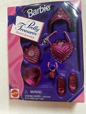 BARBIE Pretty Treasures HEART JEWELRY Accessories 1996 Pink NEW In Box