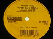 Sandie Shaw:  Puppet on a String   EX+  OLD GOLD    7""