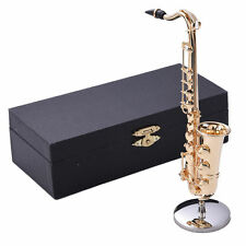 New Mini Copper Saxophone Miniature Musical Instruments with Metal Stand + Case