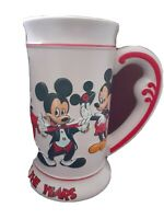Disney Mickey Mouse Ceramic Vintage  Stein Tankard Through The Years Coffee Mug.