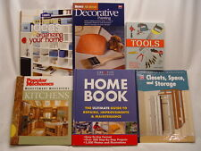 LOT OF 6 HOME IMPROVEMENT BOOKS Repair Maintenance Tools Paint Storage Kitchens