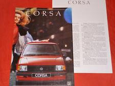 OPEL Corsa A Swing GL GSi Prospekt von 8/1988