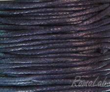 23 MT FILO COTONE CERATO BLU CORDONCINO 1,5 mm cordino CORDA RICAMBIO CIONDOLI