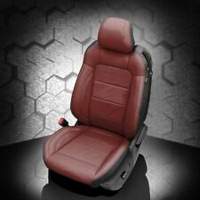 KATZKIN BLACK MED RED LEATHER REPLA SEAT CVRS FITS 2015-2018 FORD MUSTANG V6/GT