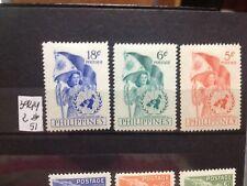 SELLOS DE FILIPINAS. NUEVOS CON FIJASELLOS.  YVERT Nº 392/4