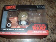 Luke Skywalker with Speeder Dorbz Vinyl Figure Set by Funko NEW NEVER OPENED