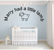 Baby Wall Sticker (Mary Had a Little Lamb)