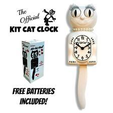 "White Lady Kit Cat Clock 15.5"" Gratis Batería Hecho En Eeuu Oficial Kit-Cat"