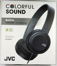 HAS190MB JVC On-Ear Headphones (Black) with Single-sided cord Remote/Microphone