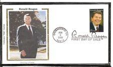 US SC # 3897 Ronald Reagan FDC . Colorano Silk cachet 2