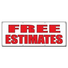 FREE ESTIMATES Auto Body Shop Car Repair Banner Sign 4 ft x 2 ft /w 4 Grommets