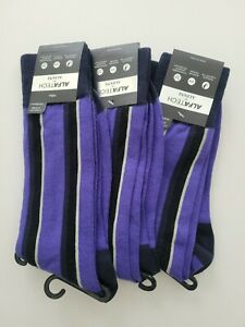 Alfani Mens Alfatech 1 Pack of 3 Pairs Moisture Wick Antimicrobial Crew Socks