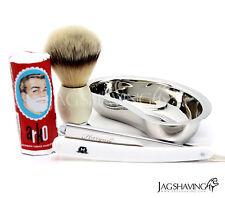 JAG SHAVING STRAIGHT Double Edge Beginner Shaving Kit  Razor Shaving Brush SOAP