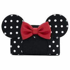 More details for loungefly x disney minnie mouse polka dot clutch purse wallet