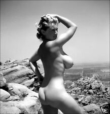 1951 Very Busty Virginia Bell Outdoor Nude 8 x 10  Photograph