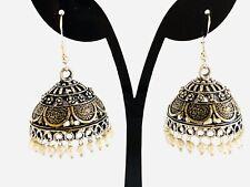Indian Oxidized Jhumka Jhumkas Ethnic Kundan Jhumka Earring  Ruby Jhumki Earring