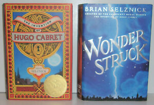 The Invention of Hugo Cabret & Wonder Struck Brian Selznick hardcovers