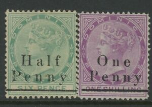 DOMINICA, MINT, #13,15, NG, GREAT PAIR, NICE CENTERING