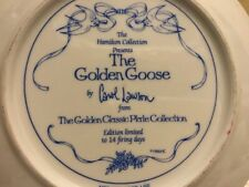 The Golden Classic Plate Collection The Golden Goose Fairy Tale Carol Lawson 22K