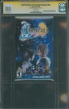 Final Fantasy X CGC SS Nobuo Uematsu signed booklet autograph 10