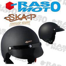 Casco jet per scooter e moto SKA-P  1FH SMARTY Nero gommato