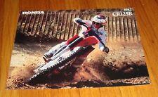 Original 1982 Honda Motorcycle CR125R Sales Brochure