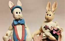 Claymation Style Mr. & Mrs. Rabbit Figurines by DCI