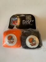 CLEVELAND BROWNS NFL FOOTBALL SPORTS TEAM FUZZY DICE NO PACKAGE