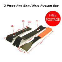 3 Piece Pry Bar and Nail Puller Set